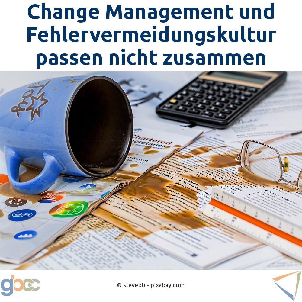Change Management und Fehlervermeidungskultur passen nicht zusammen