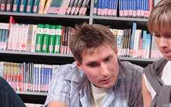 Zwei Studenten beim Lernen
