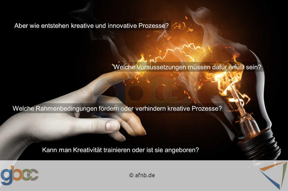 Kreativität: Blitz zwischen Zeigefinger und Glühbirne