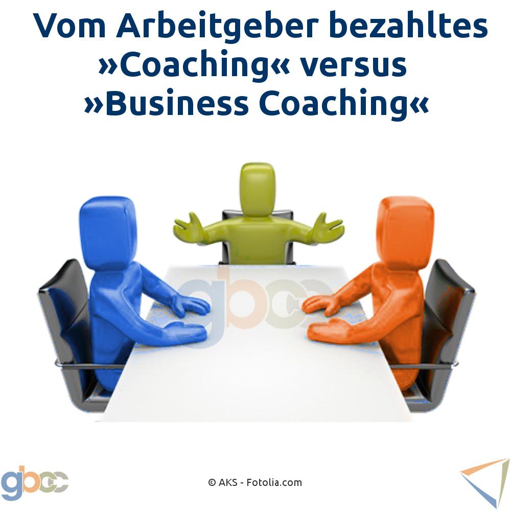 Vom Arbeitgeber bezahltes Coaching versus Business Coaching