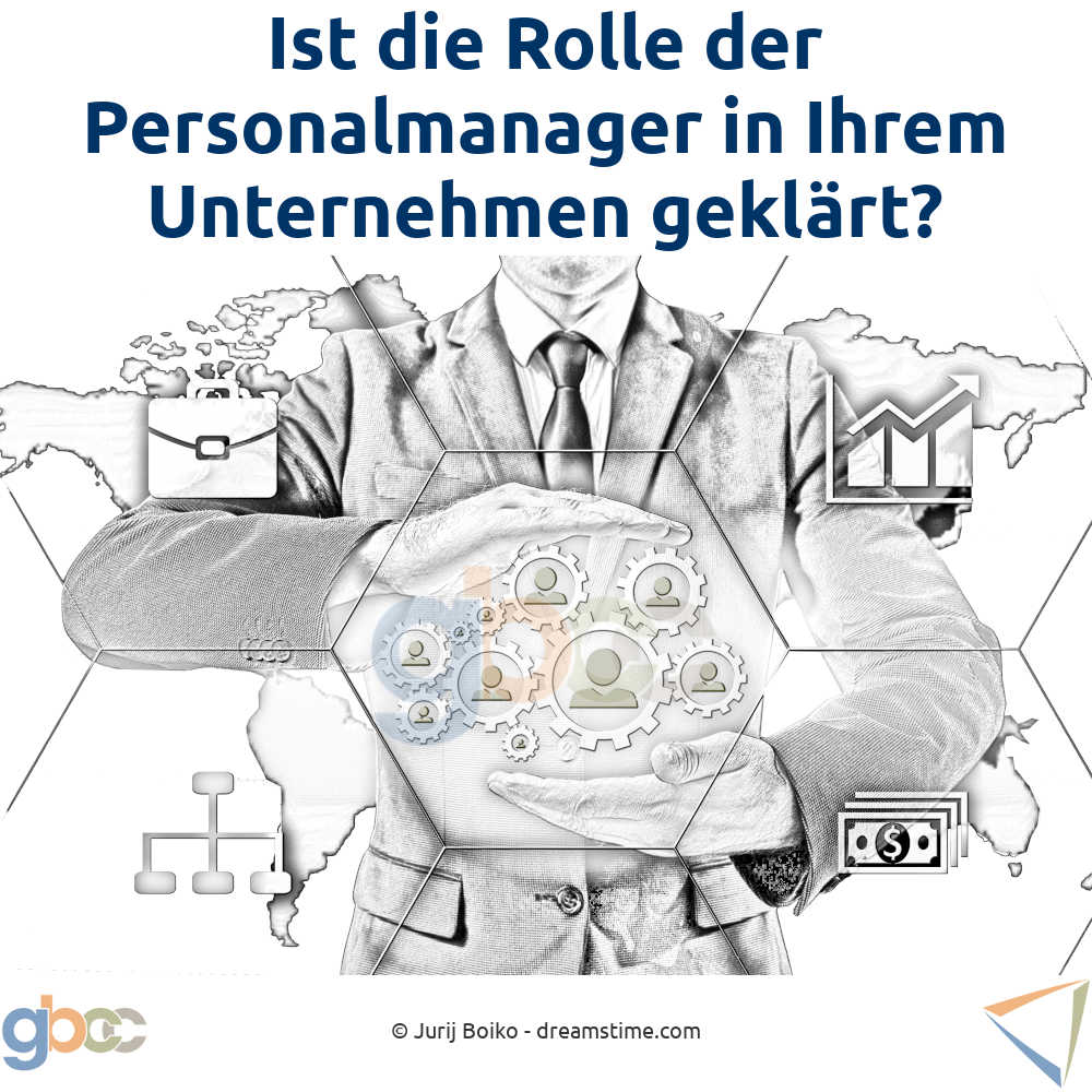 Personalmanager Konzept