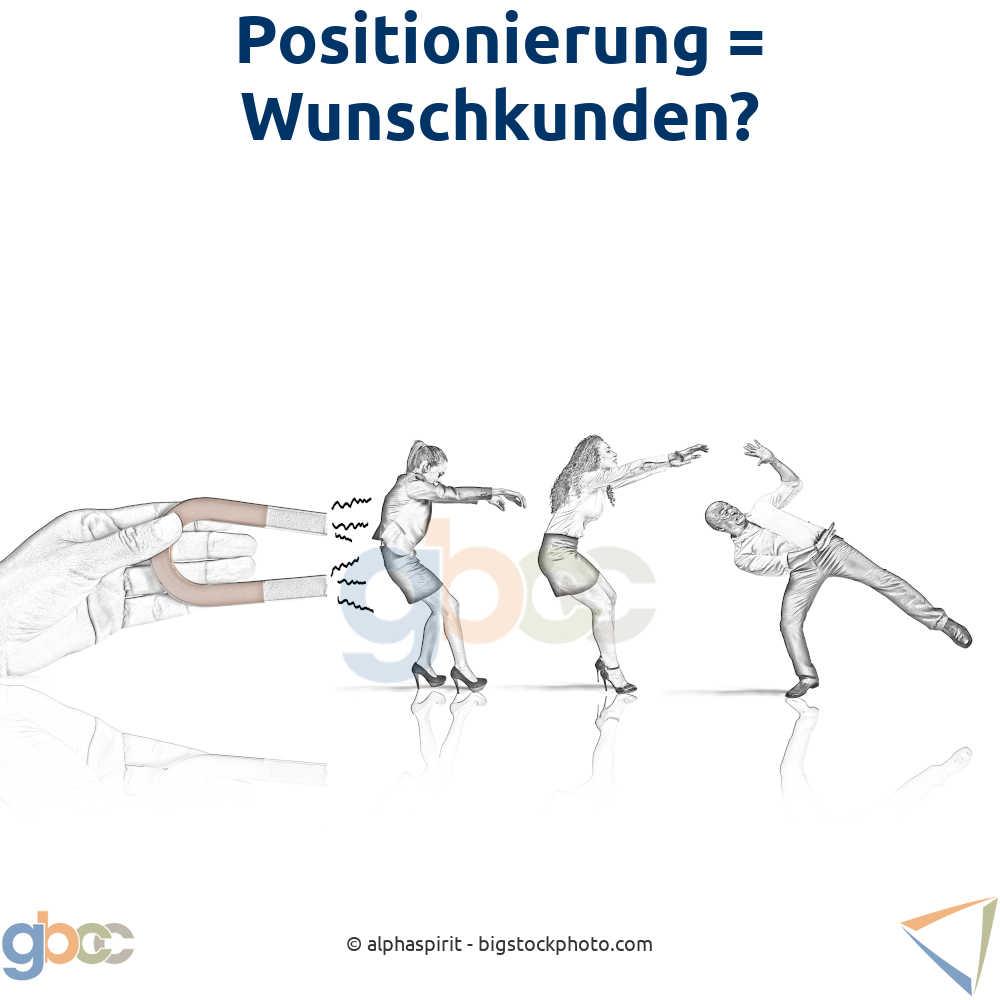 Konzept Positionierung: Hand mit Magnet zieht Wunschkunden an