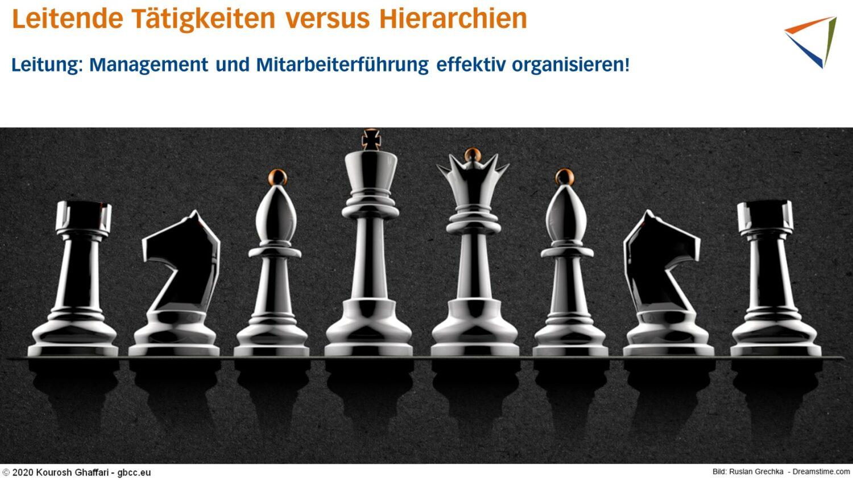 Hierarchien in Unternehmen dargestellt als Schach-Figuren.
