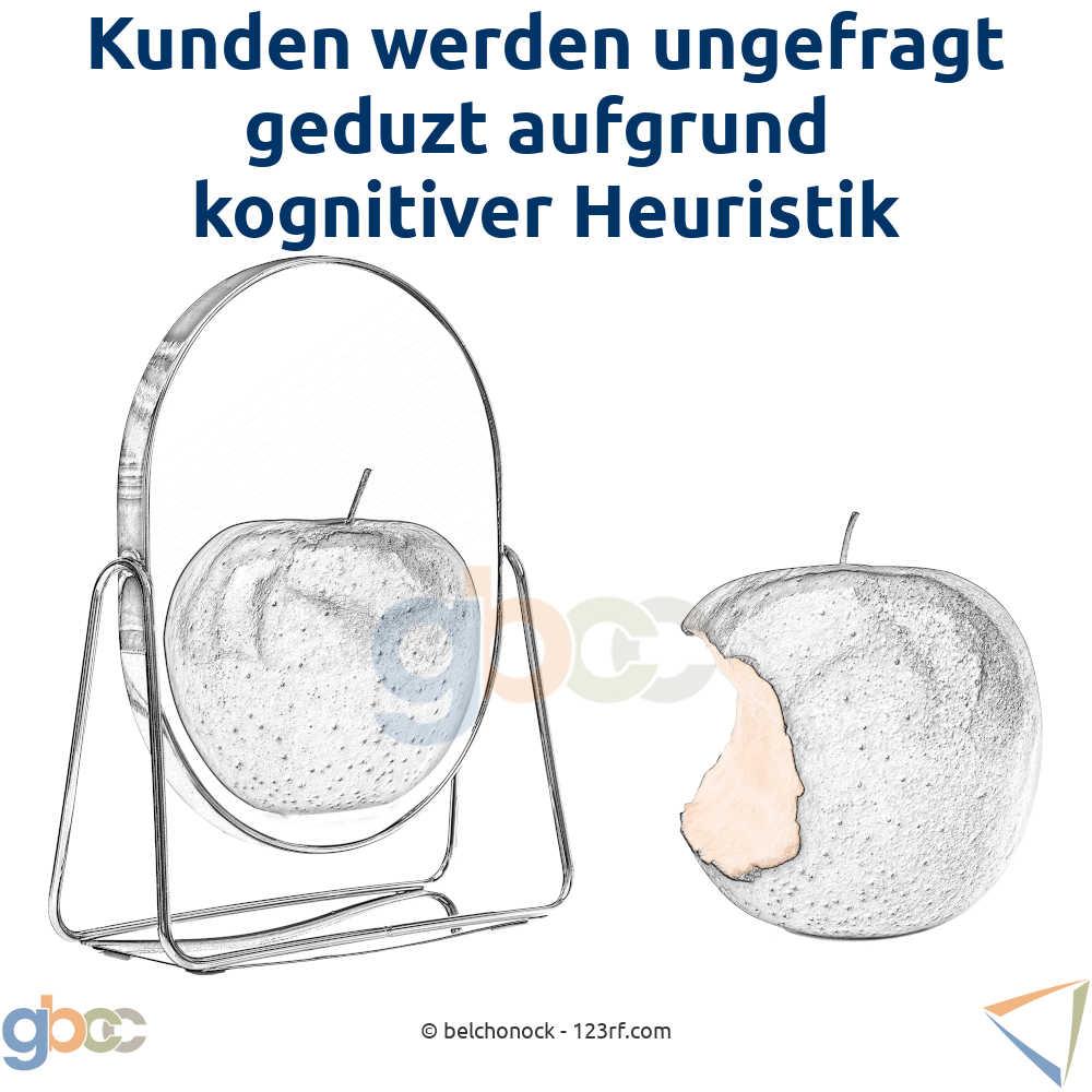 Kognitive Heuristik Konzept: Mit Hammer eine Schraube behandeln