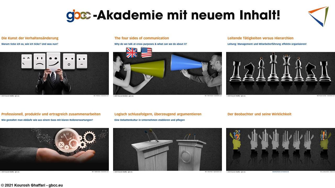 Auswahl der Kurse der gbcc-Akademie